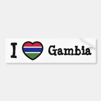 Gambia Flag Bumper Sticker