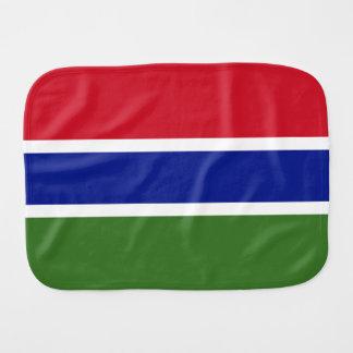 Gambia Flag Burp Cloth