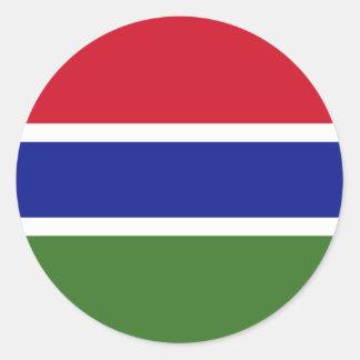 Gambia Flag Classic Round Sticker