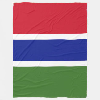 Gambia Flag Fleece Blanket