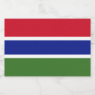 Gambia Flag Food Label