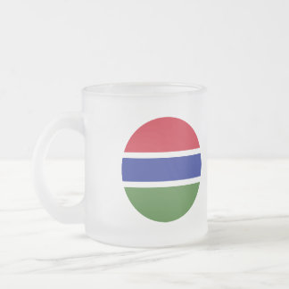 Gambia Flag Frosted Glass Coffee Mug