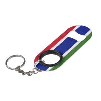 Gambia Flag Keychain Bottle Opener