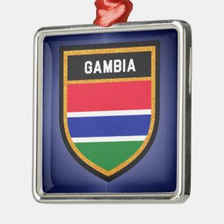 Gambia Flag Metal Ornament