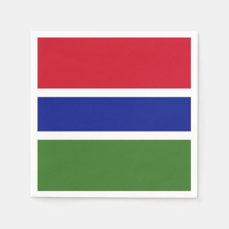 Gambia Flag Paper Napkin