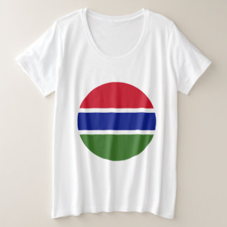 Gambia Flag Plus Size T-Shirt