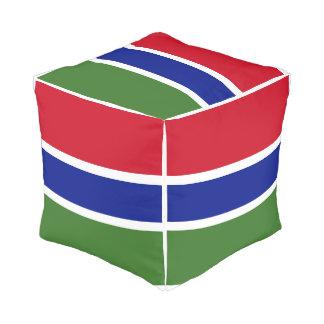 Gambia Flag Pouf