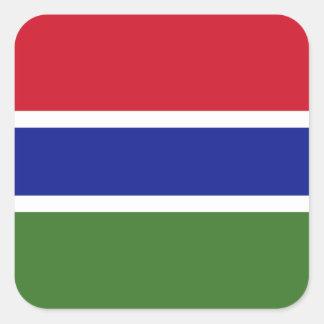 Gambia Flag Square Sticker