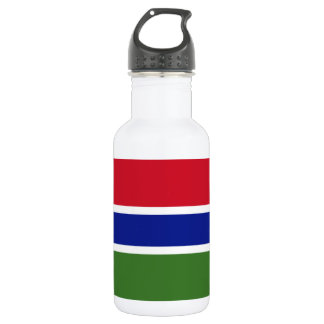 Gambia National World Flag 532 Ml Water Bottle