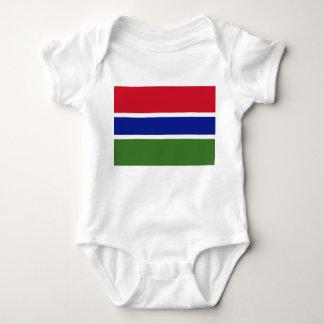Gambia National World Flag Baby Bodysuit