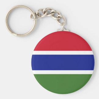 Gambia National World Flag Keychain