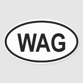 """Gambia """"WAG"""" Oval Sticker"""