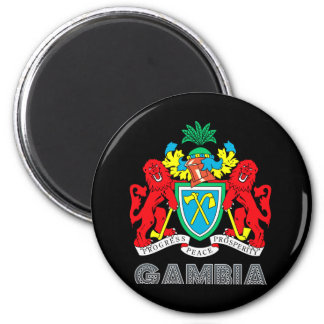 Gambian Emblem 2 Inch Round Magnet