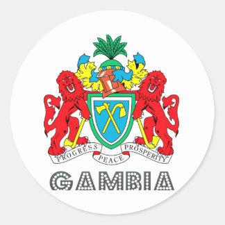 Gambian Emblem Classic Round Sticker
