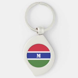 Gambian flag Keychain