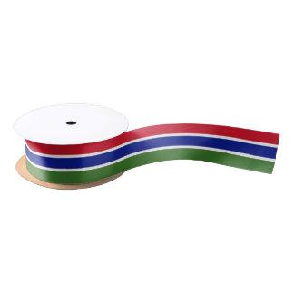 Gambian flag ribbon satin ribbon
