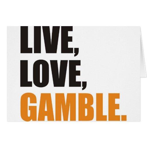gamble greeting card
