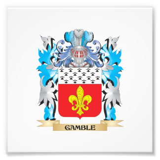 Gamble- Coat of Arms - Family Crest Photograph