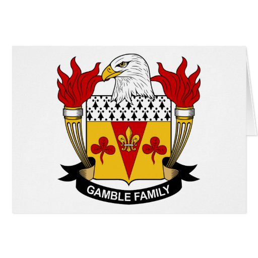 Gamble Family Crest Card