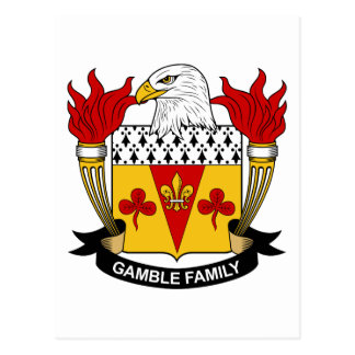 Gamble Family Crest Postcard