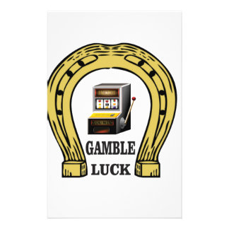 Gamble luck slots custom stationery