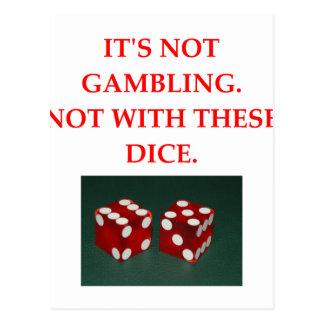 GAMBLE POSTCARD