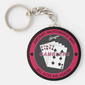 Gambler AMU Key Chain with Red Coin Black