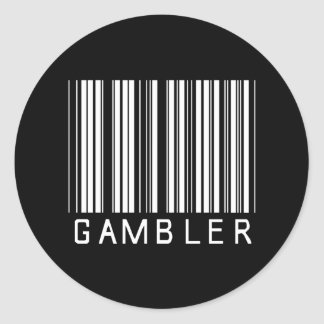 Gambler Bar Code Classic Round Sticker