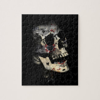Gambler Death Skull Jigsaw Puzzle