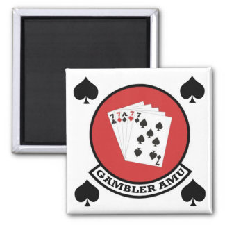 Gambler Magnet Patch with Spades