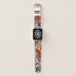 Gamblers Delight - Las Vegas Icons Collage Apple Watch Band