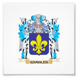 Gambles Coat of Arms - Family Crest Photograph