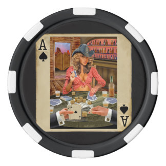 Gamblin' Cowgirl Poker Chips