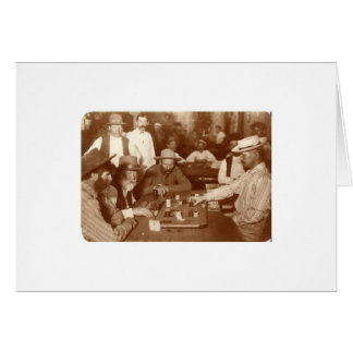 Gambling at a Saloon, Greeting Card