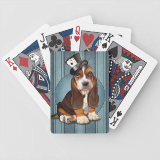 Gambling Basset Hound Puppy Bicycle Playing Cards