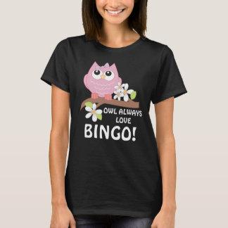 Gambling Bingo Owl womens t-shirt