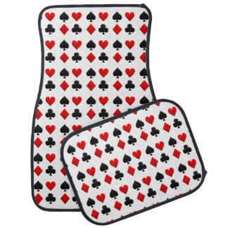 Gambling Cards Suits Car Mat