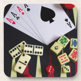 Gambling casino gaming pieces coaster