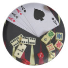 Gambling casino gaming pieces plate