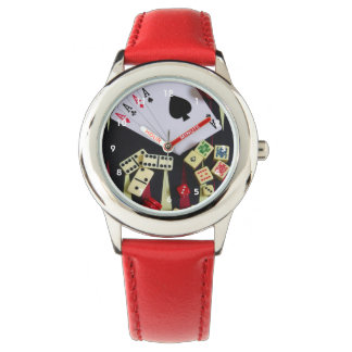 Gambling casino gaming pieces wristwatch