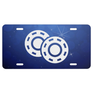 Gambling Chips Minimal License Plate