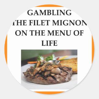 GAMBLING CLASSIC ROUND STICKER
