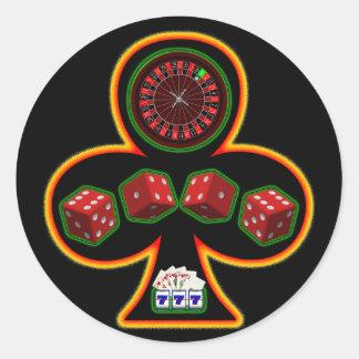 GAMBLING CLUB CLASSIC ROUND STICKER