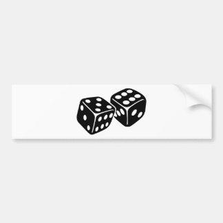 Gambling dice bumper sticker