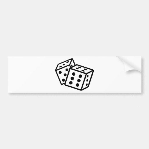 gambling dice cubes casino bumper stickers