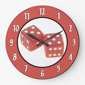 Gambling Dice Wall Clock