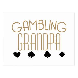 Gambling Grandpa Postcard