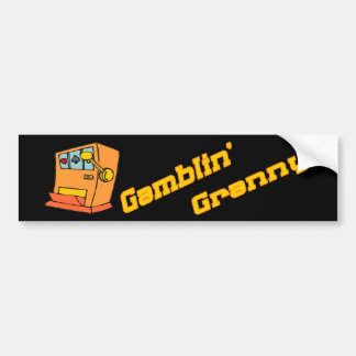 Gambling Granny Bumper Sticker