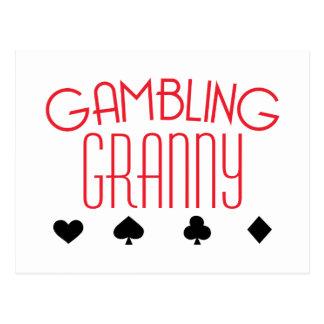 Gambling Granny Postcard