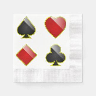 Gambling hall napkin